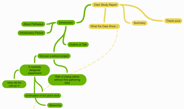 Coggle mind-map outlining the presentation